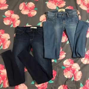 2 pairs of hollister skinny jeans